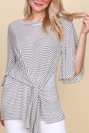 Blu Heaven Striped Wrap Top - Product Mini Image