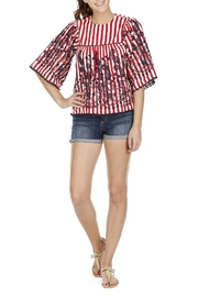 Joy Joy Striped Yoked Top - Product Mini Image