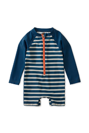 Tea Collection Striped Zip Rash Guard - Product Mini Image