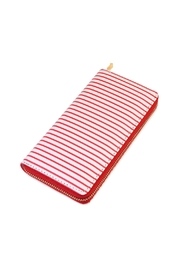 Riah Fashion Striped Zipper Wallet - Product Mini Image