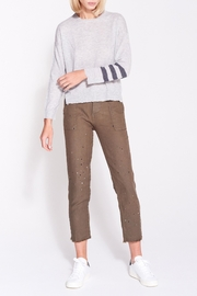 Sundry Stripes Crew Neck - Front full body