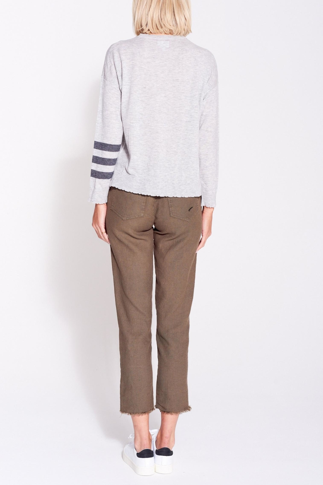 Sundry Stripes Crew Neck - Back Cropped Image