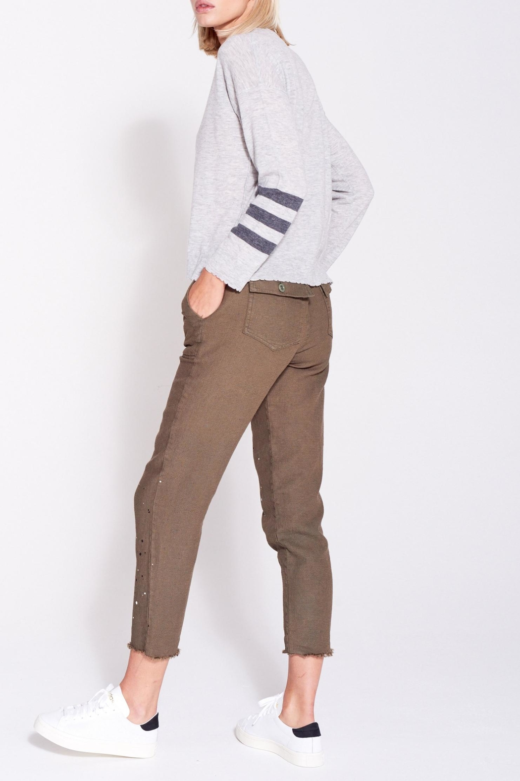 Sundry Stripes Crew Neck - Side Cropped Image