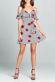 DNA Couture Stripes & Flowers Dress - Product Mini Image