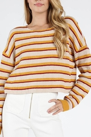 Honey Punch Stripes-For-Days Sweater - Product Mini Image