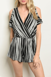A. OK Stripes Jersey Romper - Product Mini Image