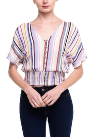 Lumiere Stripped Buttoned Blouse - Front cropped