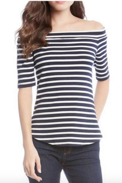 Shoptiques Product: Stripped Cap-Sleeve Top