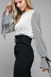 Do & Be Stripped Cuff-Detail Blouse - Product Mini Image
