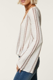 O'Neill Striped Deep-V Sweater - Front full body