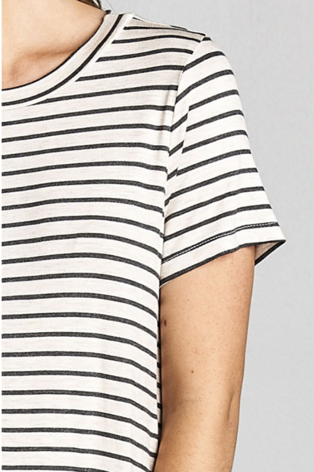 Cotton Bleu Stripped Everyday T-Dress - Side Cropped Image