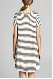 Cotton Bleu Stripped Everyday T-Dress - Front full body