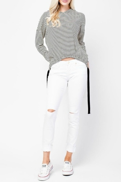 Shoptiques Product: Stripped Hoodie