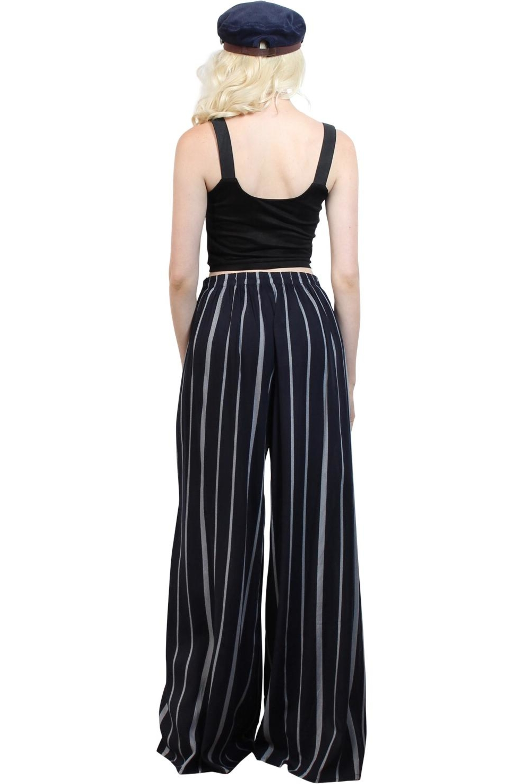 Rock Etiquette Stripped  Love Pants - Side Cropped Image