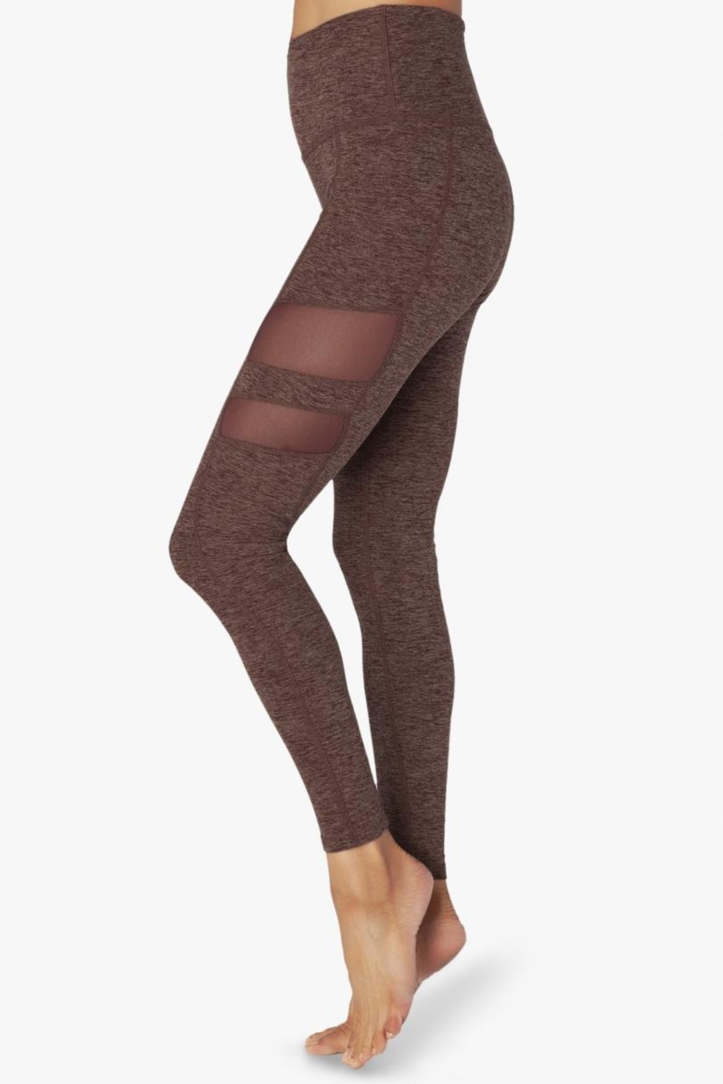 Beyond Yoga Stripped-Mesh High-Waisted Leggings - Main Image