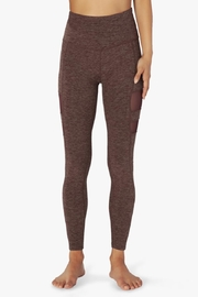 Beyond Yoga Stripped-Mesh High-Waisted Leggings - Front full body