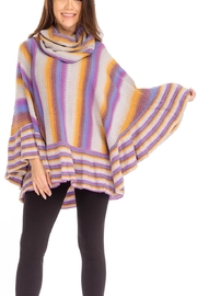 Baciano Stripped Poncho Top - Product Mini Image