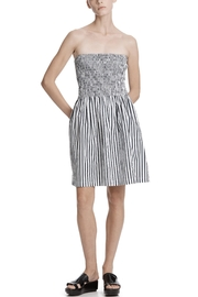ATM Anthony Thomas Melillo Stripped Ruched Dress - Product Mini Image