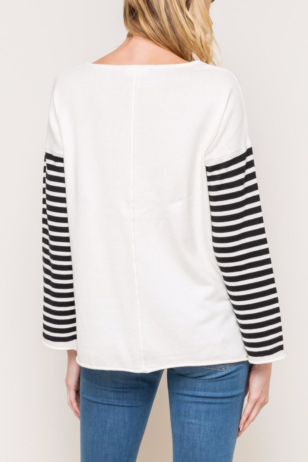 Mystree Striped Sweater - Side Cropped Image
