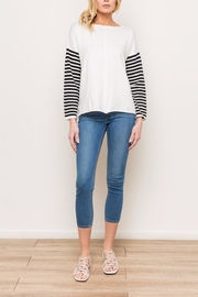 Mystree Striped Sweater - Back cropped