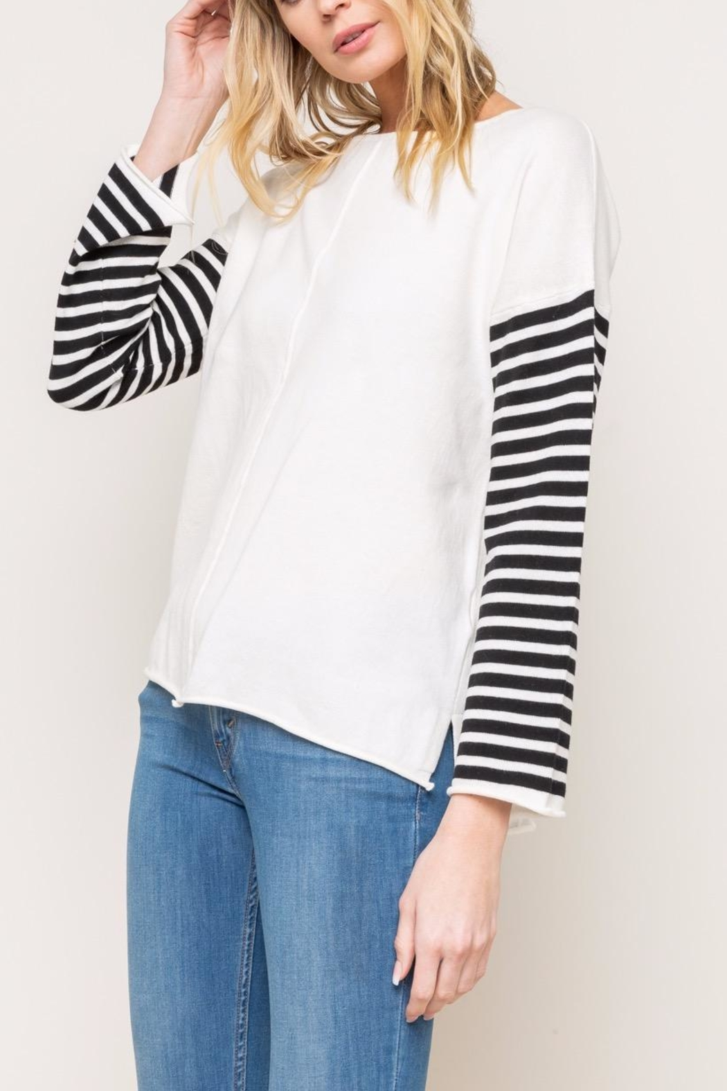 Mystree Striped Sweater - Front Full Image