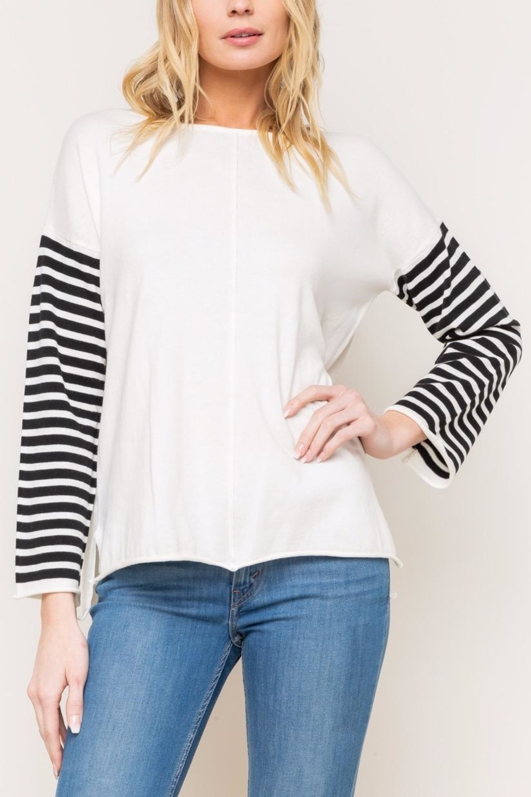Mystree Striped Sweater - Main Image