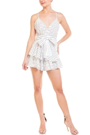 Balance Stripped Tiered Romper - Product Mini Image