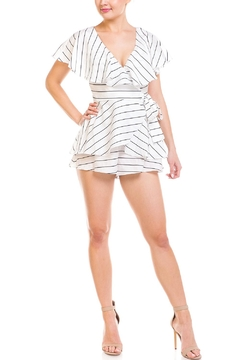 Shoptiques Product: Stripped Wrap Romper