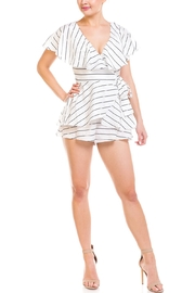 Balance Stripped Wrap Romper - Product Mini Image