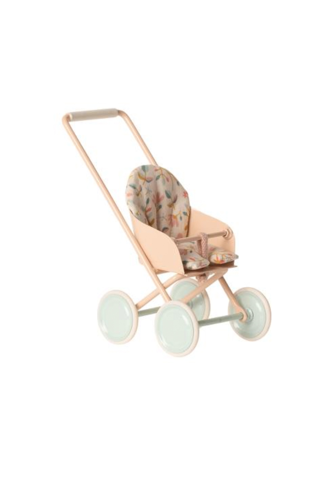 Maileg Stroller Micro - Powder - Front Cropped Image