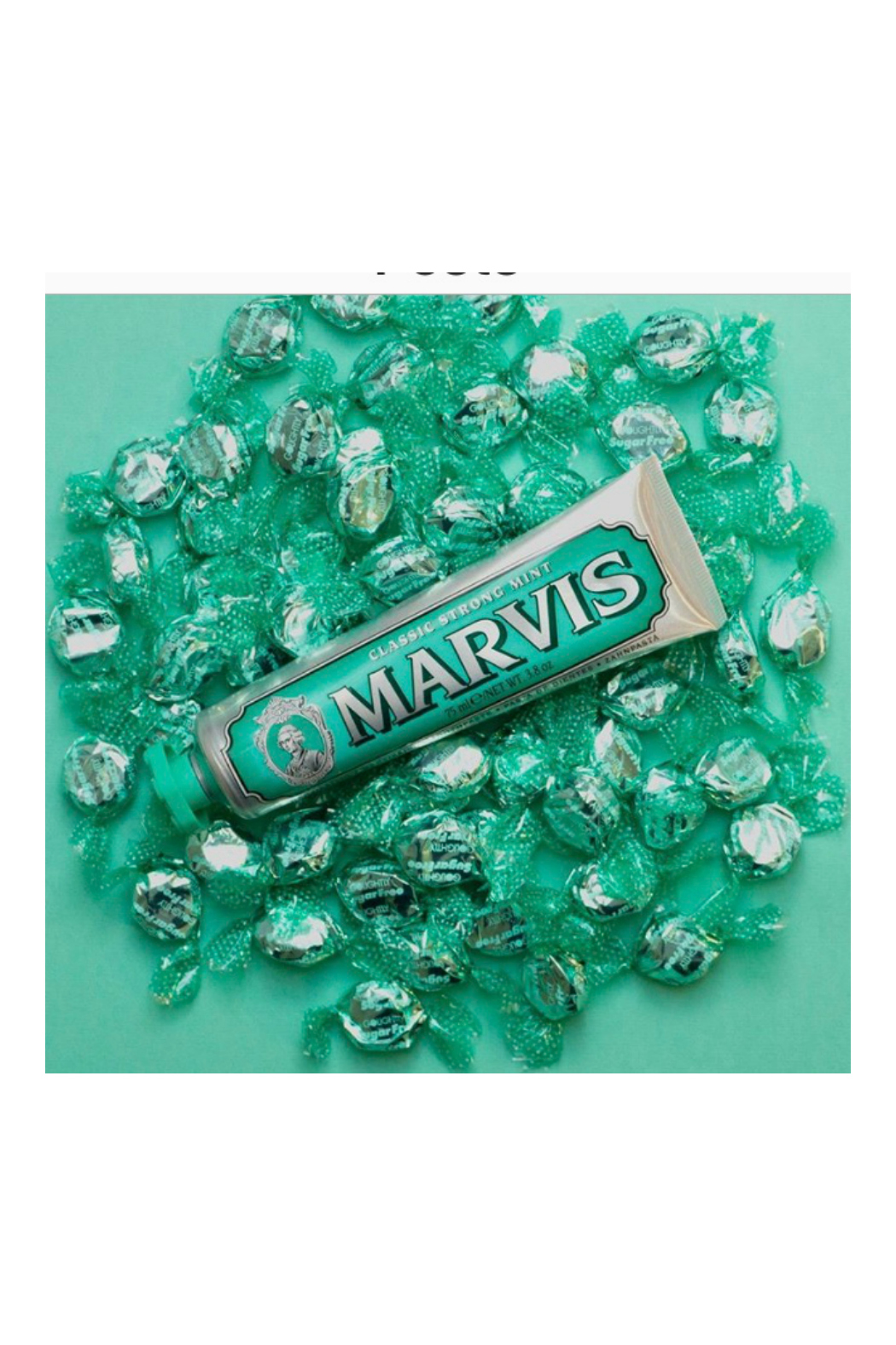 Marvis Strong Mint Toothpaste - Front Full Image