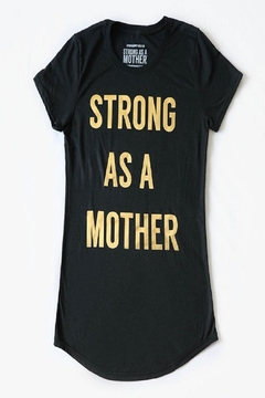 Strong as a Mother Text T-Shirt - Alternate List Image