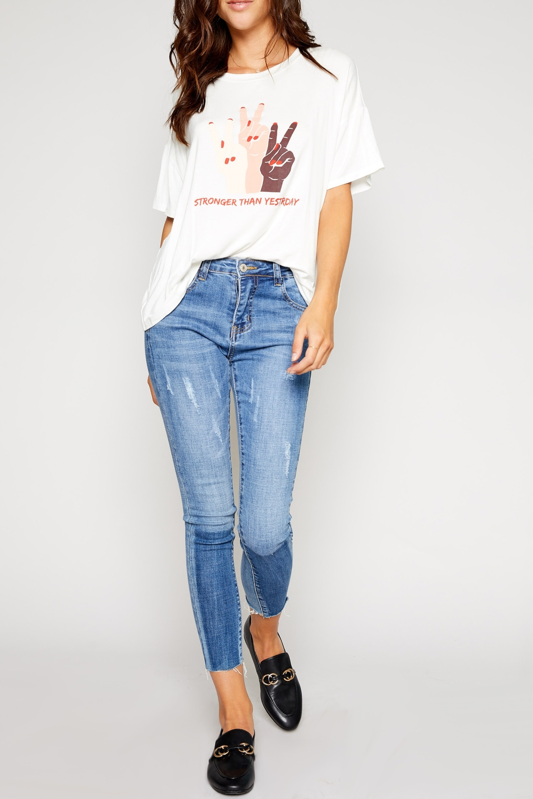 Sadie and Sage Stronger Graphic Tee - Back Cropped Image