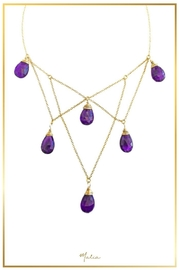 Malia Jewelry Structured Amethysts Necklace - Product Mini Image