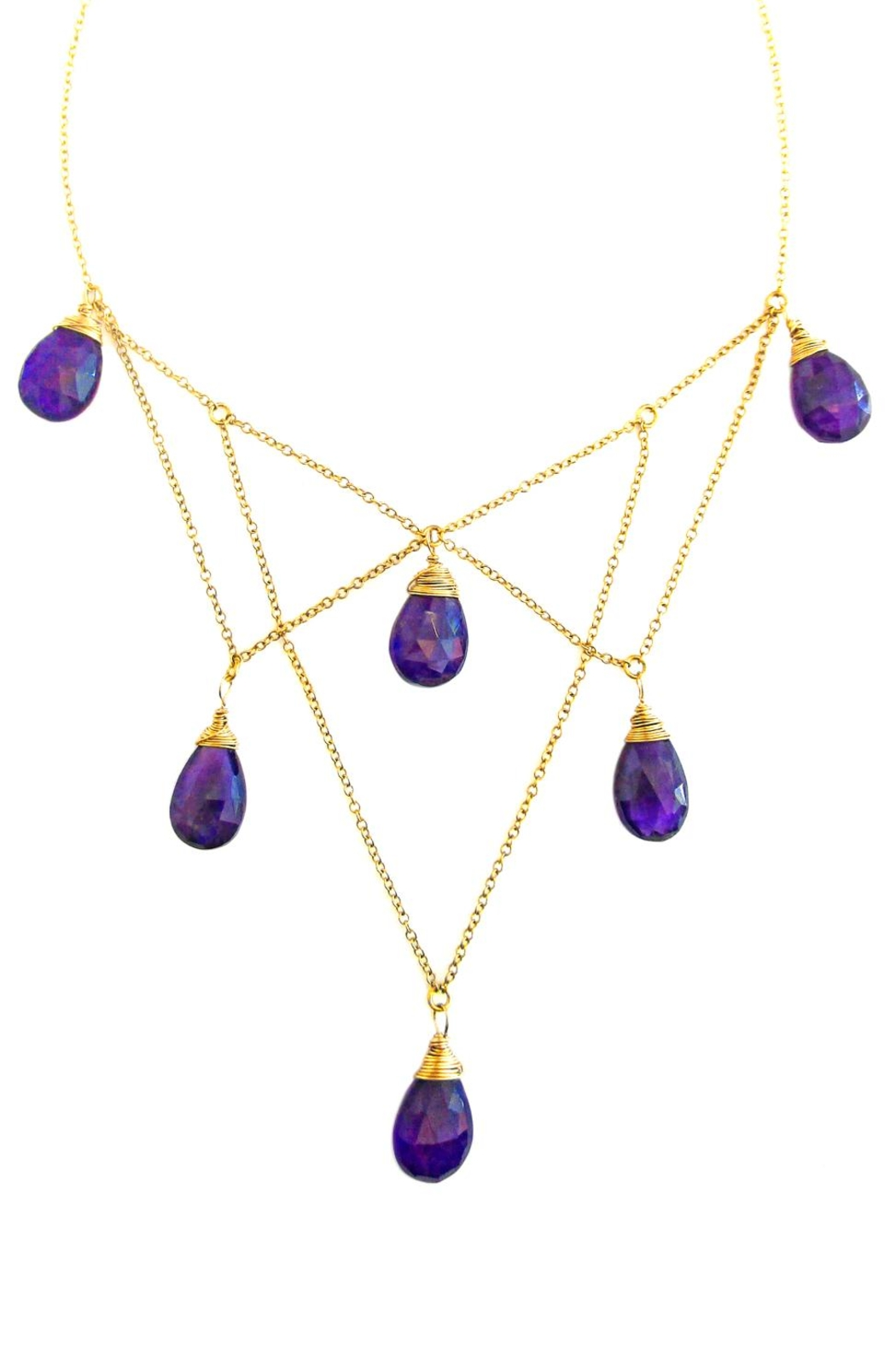 Malia Jewelry Structured Amethysts Necklace - Main Image