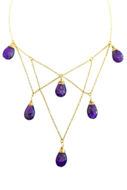 Malia Jewelry Structured Amethysts Necklace - Front cropped