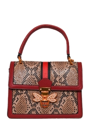 INZI Structured Python Satchel - Front cropped