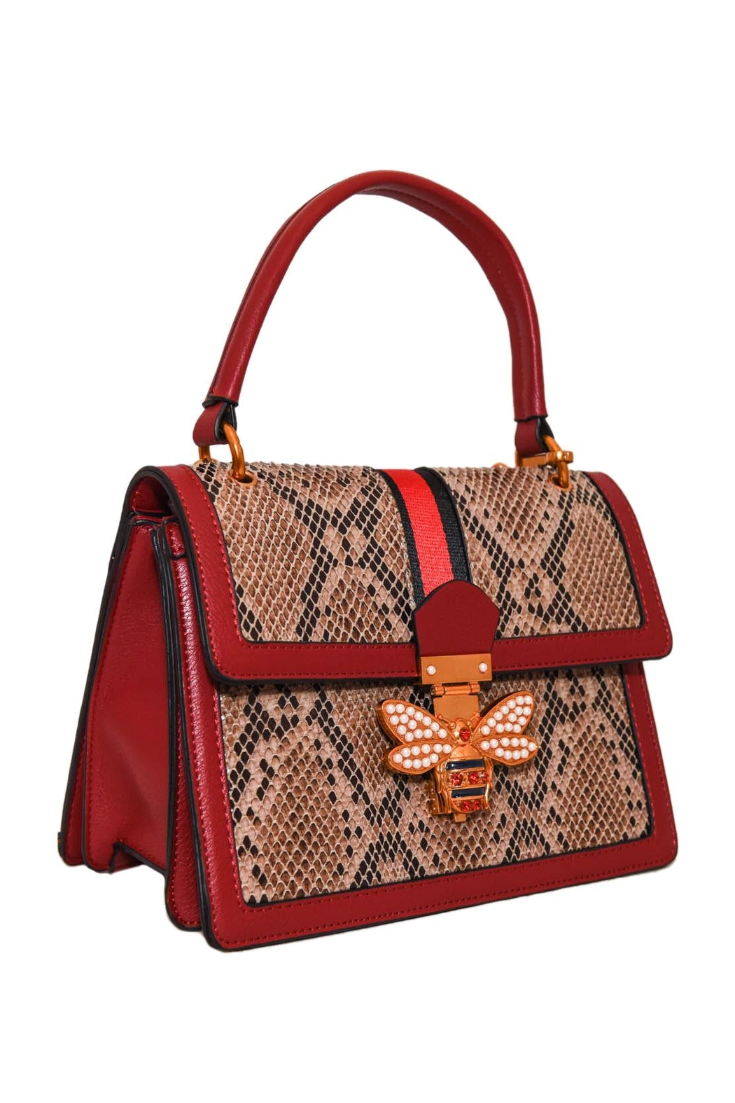 INZI Structured Python Satchel - Front Full Image