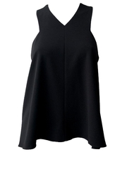 Tibi Structured V-Neck Top - Product Mini Image