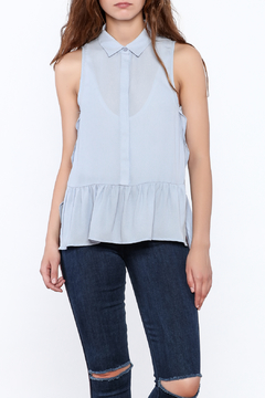 Shoptiques Product: Sleeveless Blue Blouse