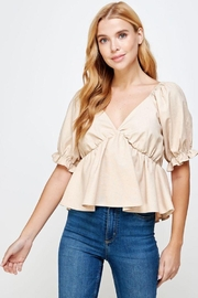 Strut & Bolt Short Balloon Sleeve Spaghetti Strap Top - Product Mini Image