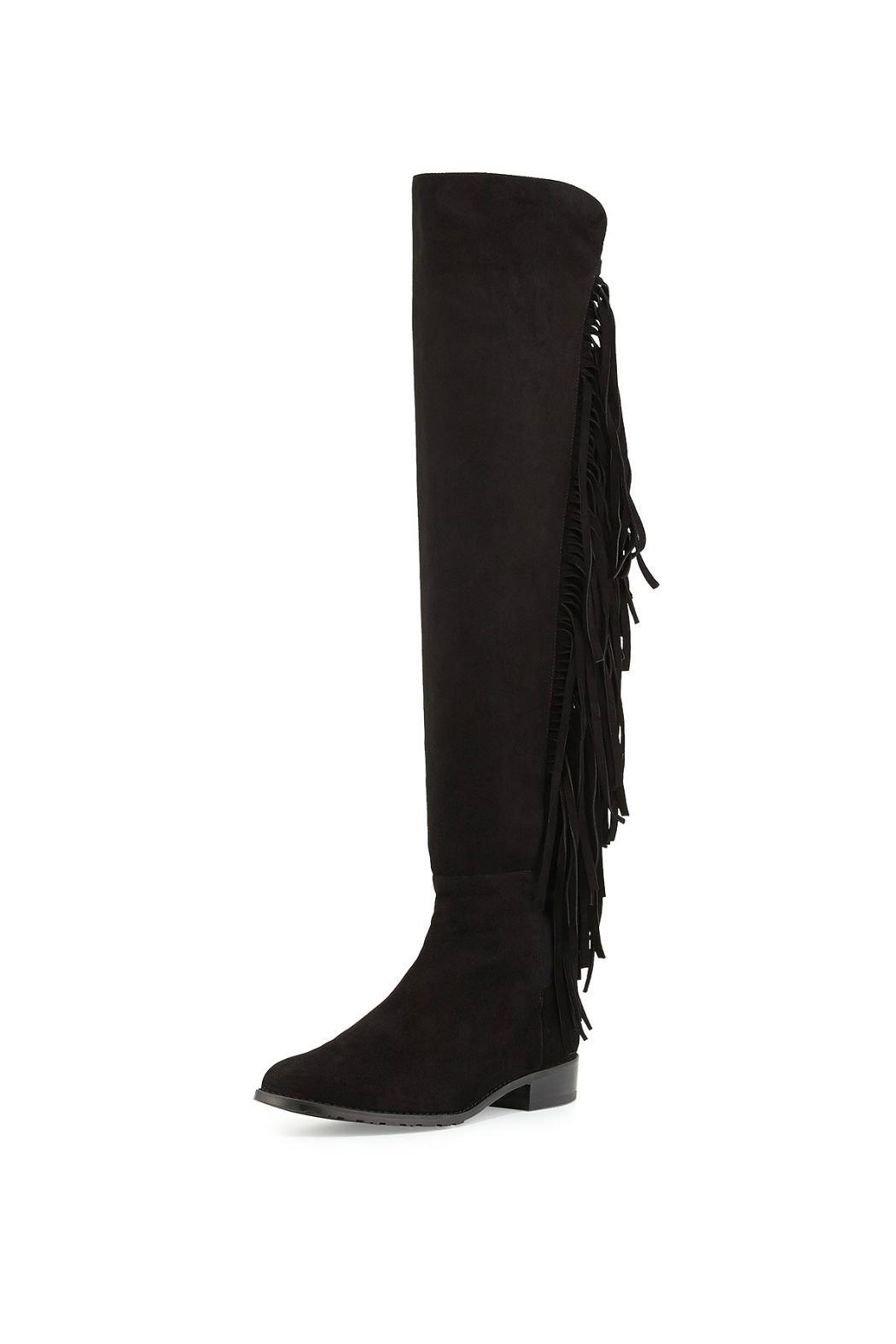 Good Selling Online fringed boots - Black Stuart Weitzman Best Cheap Online Wholesale Price Online Wholesale Price Sale Online Best Place For Sale RSq53k