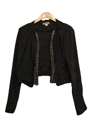Double Zero Stud-Lapel Crop Jacket - Product Mini Image
