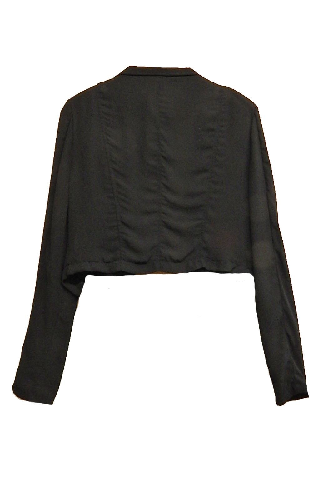 jacket black mock gallery clothing in normal stud product lyst acne studios