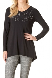 Yest Studded Black Top - Front cropped