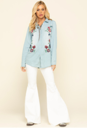 Tasha Polizzi Studded Embroidered Shirt - Product Mini Image