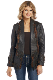 Cripple Creek Studded Fringe Jacket - Product Mini Image