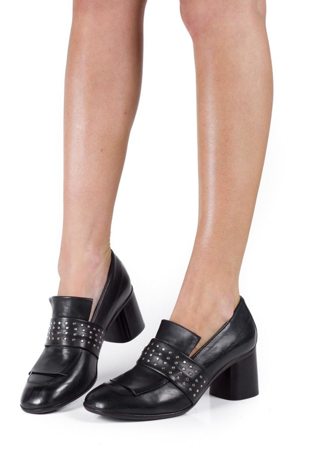 Keep Studded Heel Loafer - Back Cropped Image