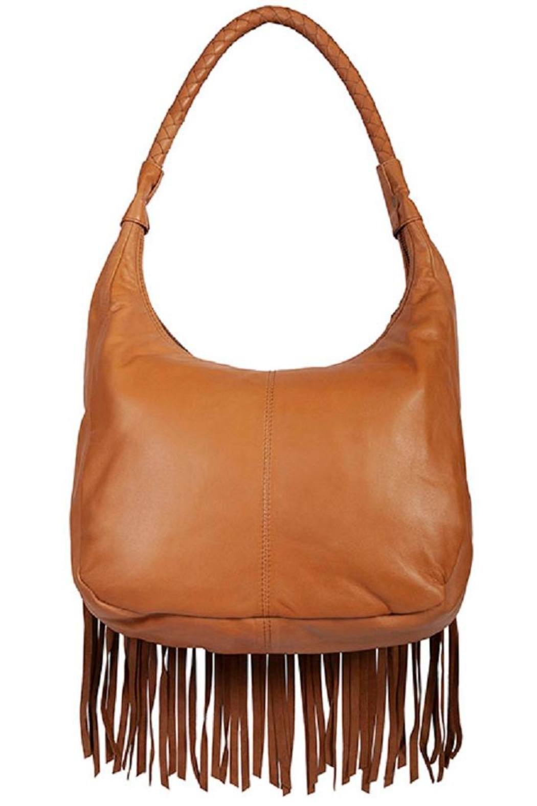Scully Studded Leather Handbag - Front Full Image