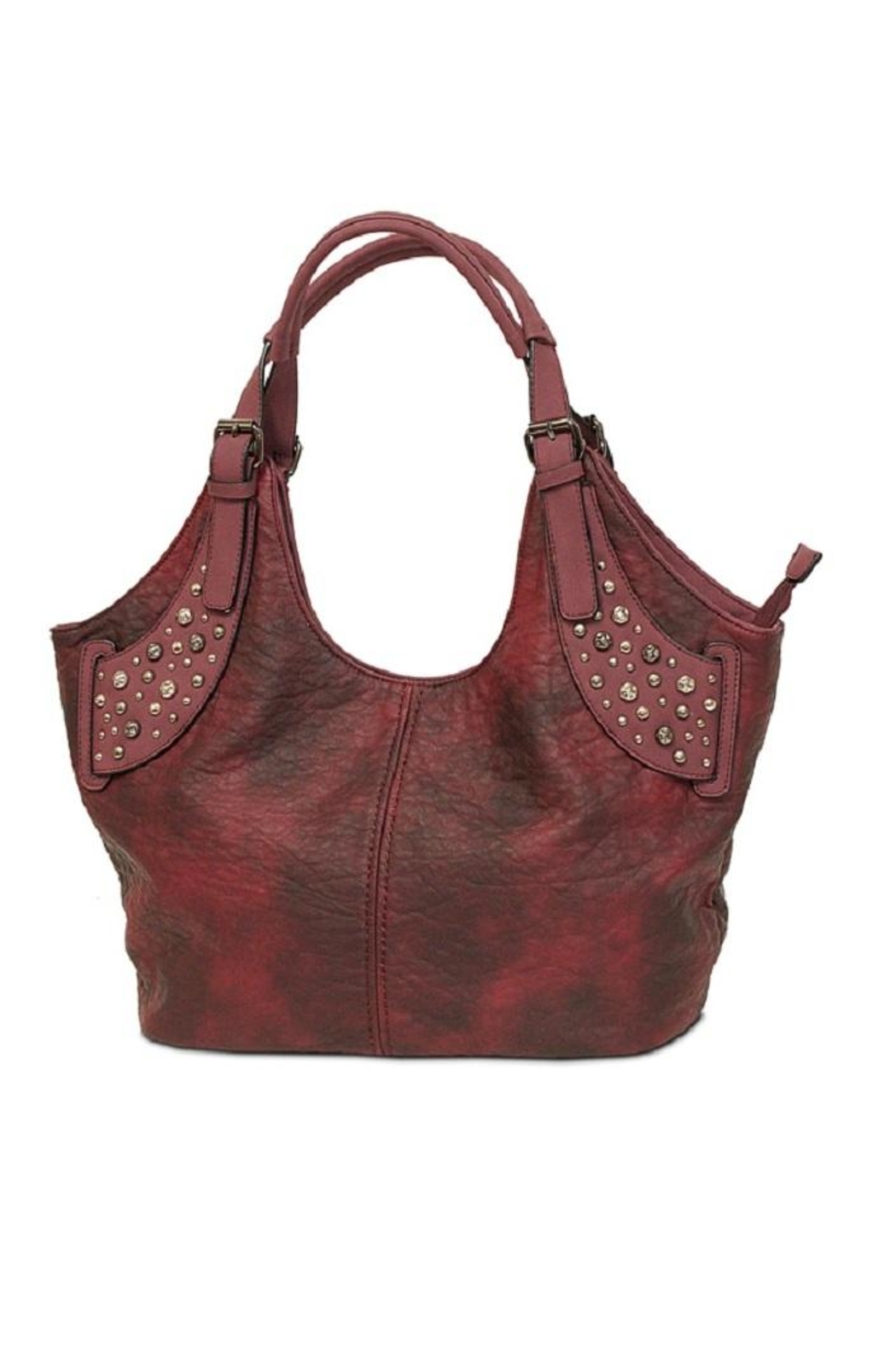 Mc Handbags Studded Leather Hobo Front Cropped Image